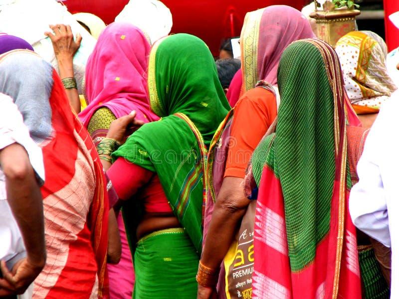 Warkari Frauen lizenzfreies stockfoto