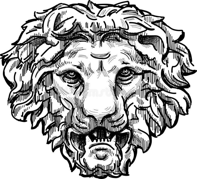 Warkliwa lew głowa ilustracja wektor