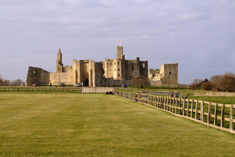 warkworth замока стоковые изображения rf