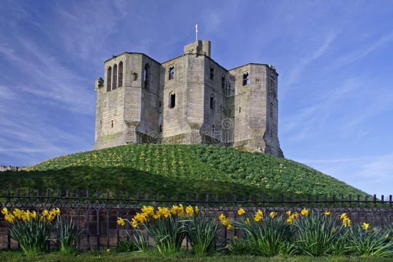 warkworth замока стоковое фото rf