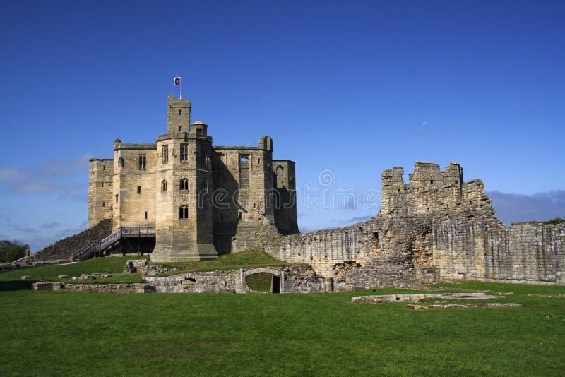 warkworth замока стоковые изображения