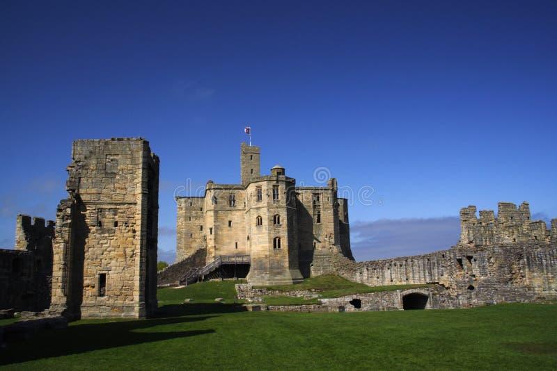 warkworth замока стоковое фото