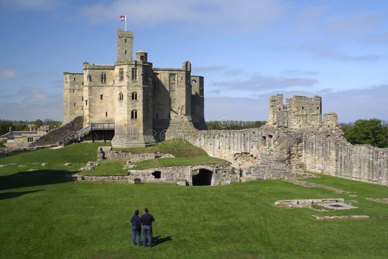 warkworth замока стоковое изображение rf