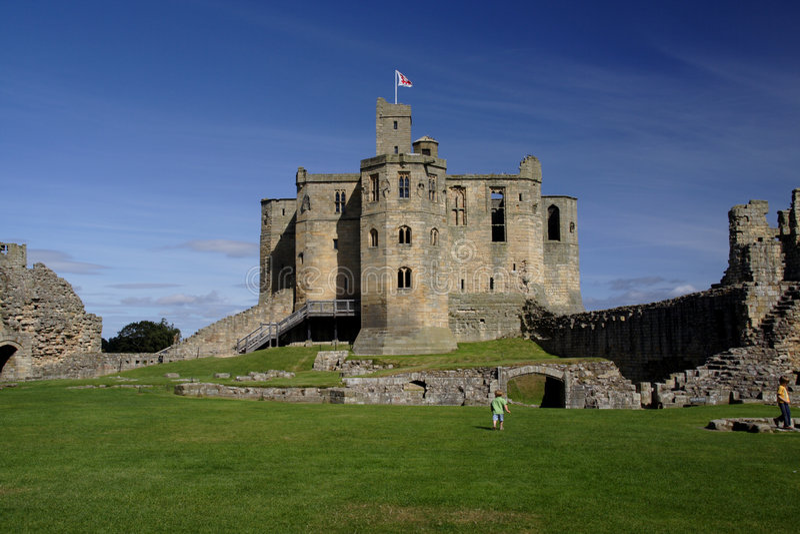 warkworth замока стоковые фотографии rf
