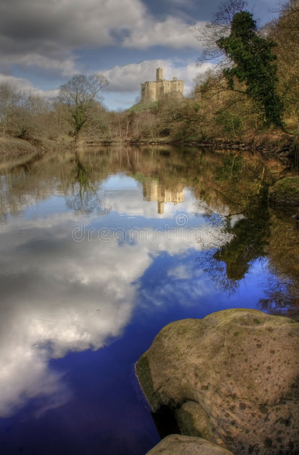 warkworth замока стоковая фотография