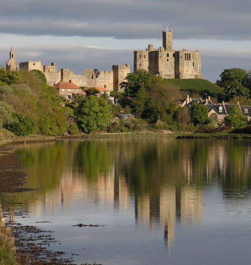 Warkworth, castillo, imagen de archivo libre de regalías