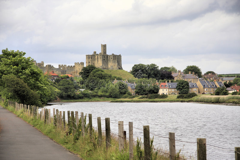 Warkworth Castle royalty free stock image