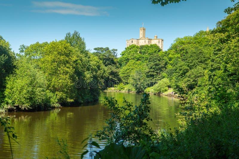 Warkworth y castillo de Warkworth fotos de archivo libres de regalías
