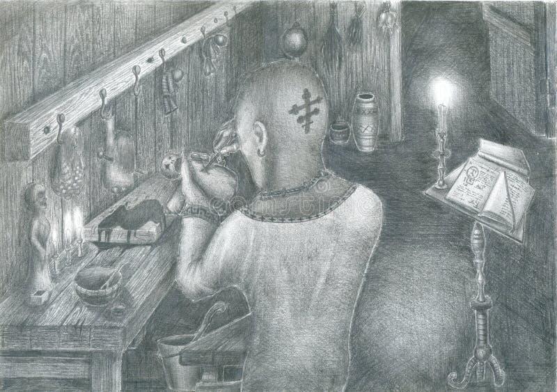 warlock praca ilustracji