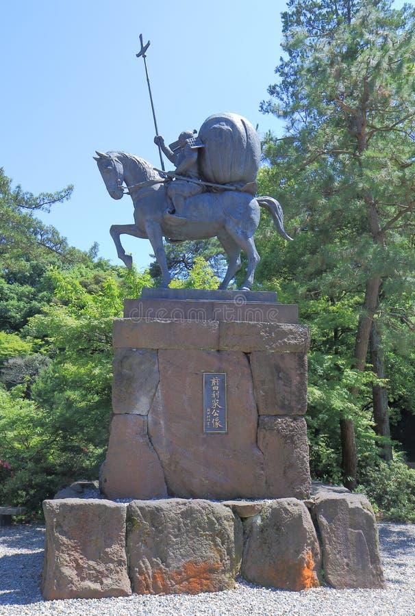 Warlord stature Kanazawa Japan. Toshiie Maeda warlord stature in Oyama shirine in Kanazawa Japan royalty free stock images