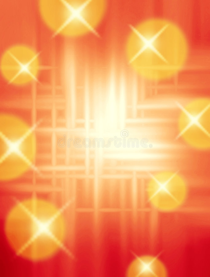 Warm Abstract Twinkling Background royalty free stock images