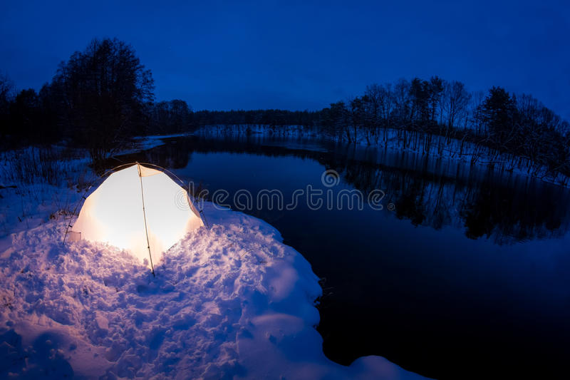Warm Accommodation In The Cold Winter Royalty Free Stock Images