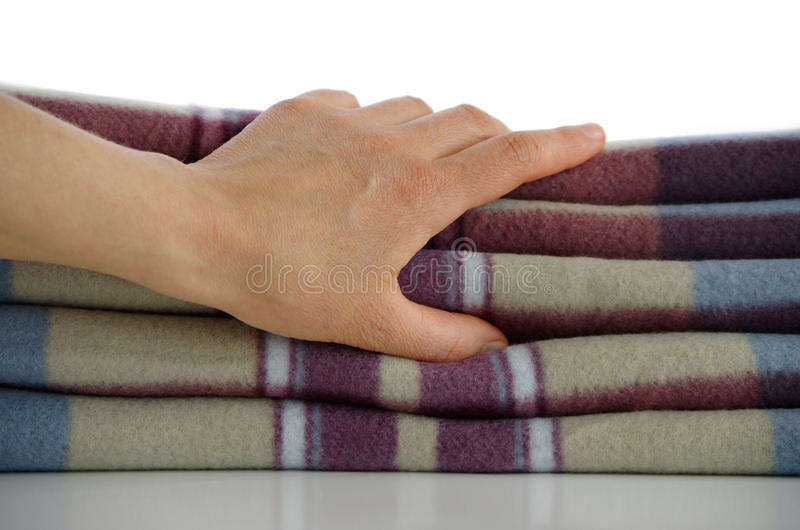 Download Warm blanket stock image. Image of beige, fold, material - 18852349