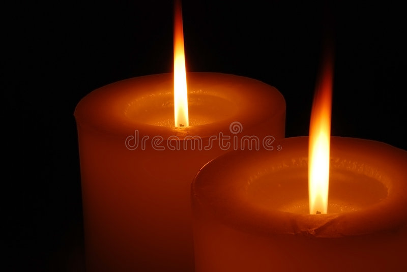 Warm candle light