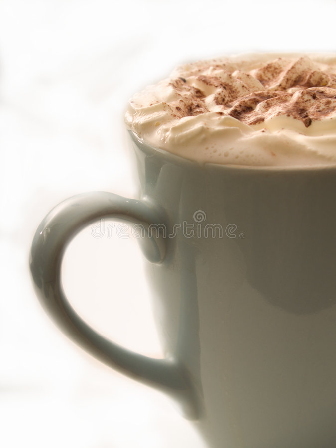 Download Warm Chocolate  Drink In Cup On White Royalty Free Stock Images - Image: 7817219