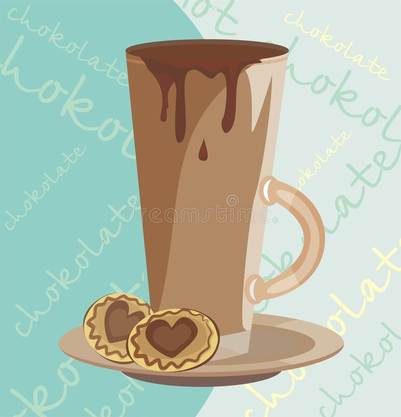 Download Warm chokolate and cakes stock vector. Illustration of color - 11384770