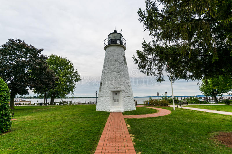Warm Cloudy day in Havre De Grace, Maryland on the Board Walk.  stock image