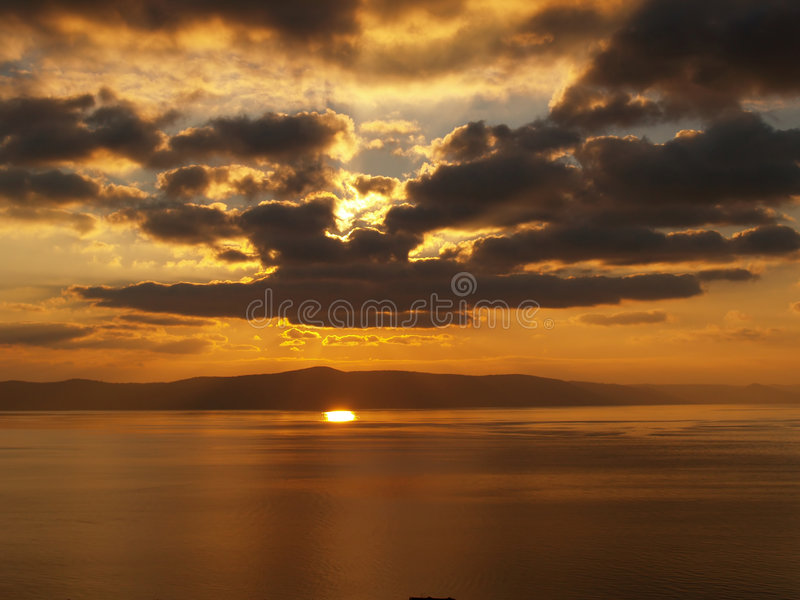 Download Warm Cloudy Sunset Stock Image - Image: 3489951