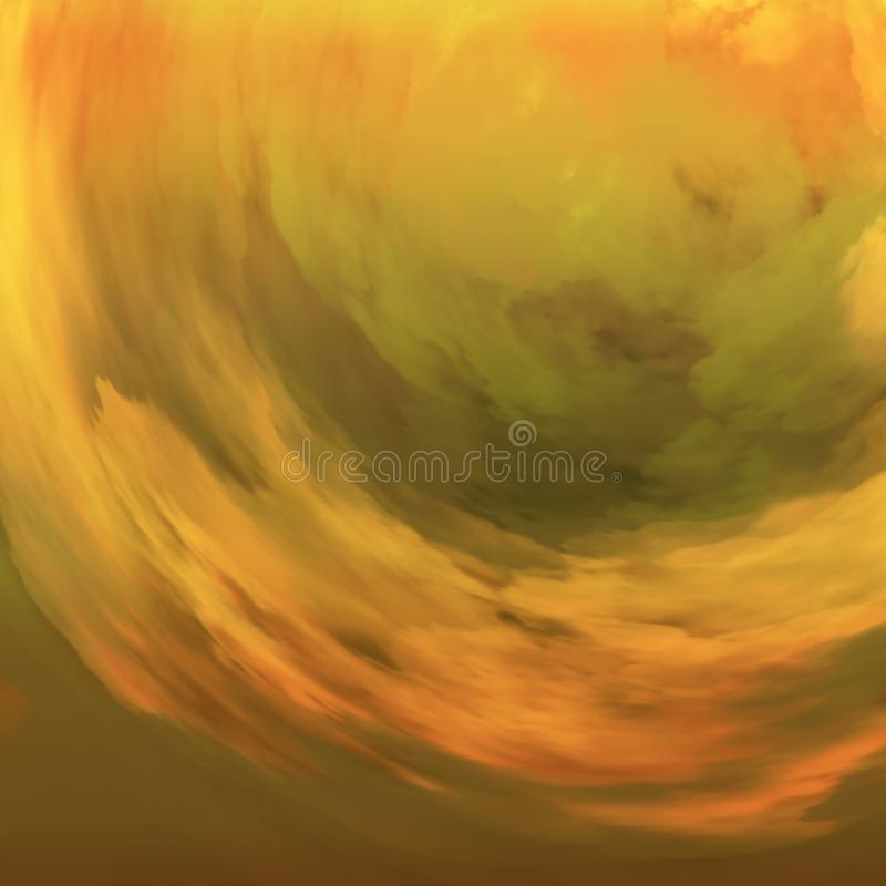 Warm colors artwork. Painting decor for interiors. Wavy brush strokes background. royalty free illustration