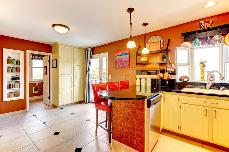 warm colors for kitchen warm colors cozy kitchen room stock photo image of 6999