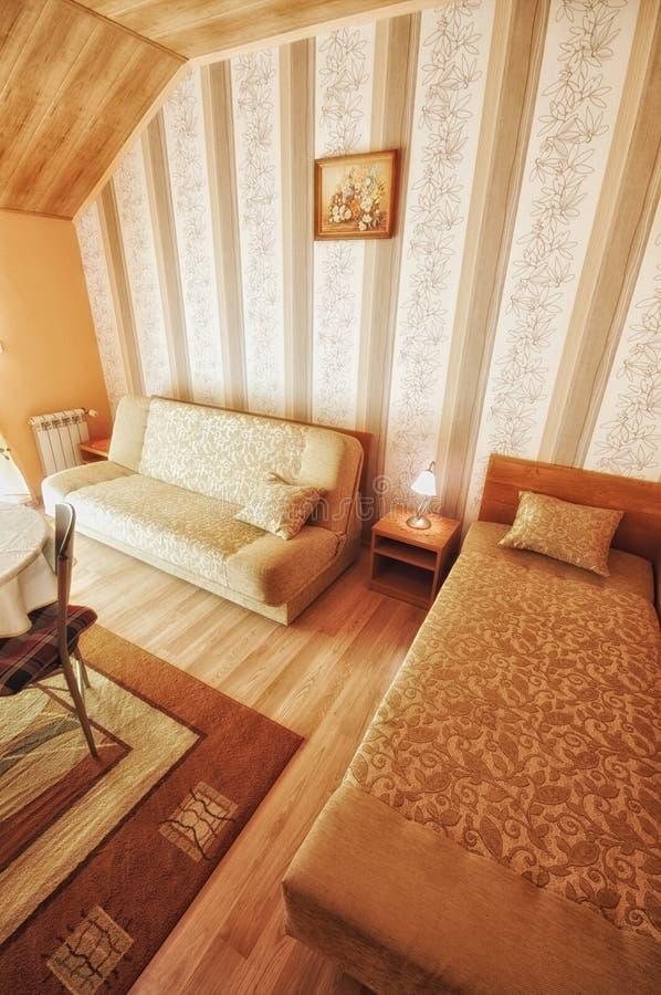 Warm, Comfortable Living Room Royalty Free Stock Photos
