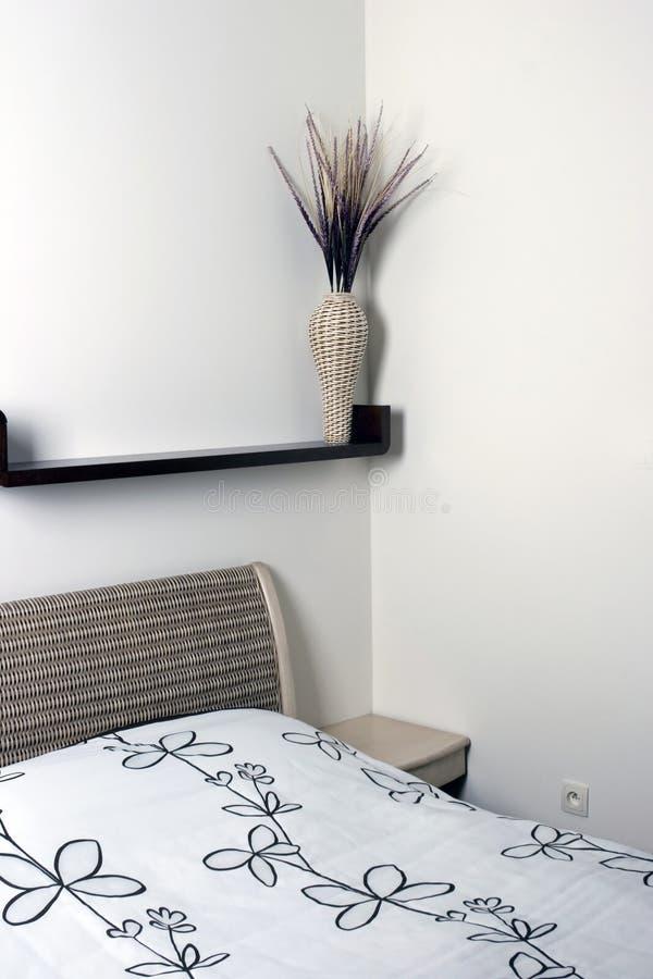 Warm, Contemporary Bedroom stock photography