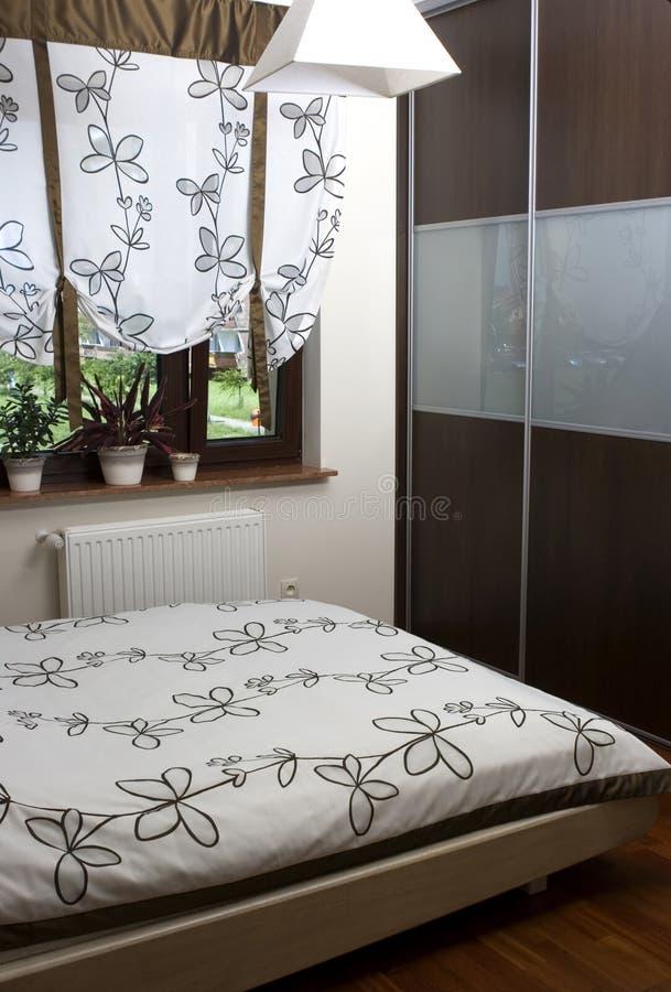 Warm, Contemporary Bedroom stock photo