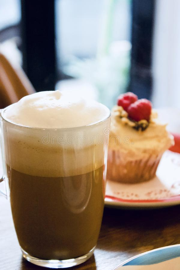 Coffe and cake royalty free stock image
