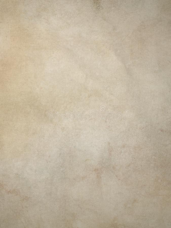Warm Cream Tan Vintage Canvas Background With Stains And Pigments