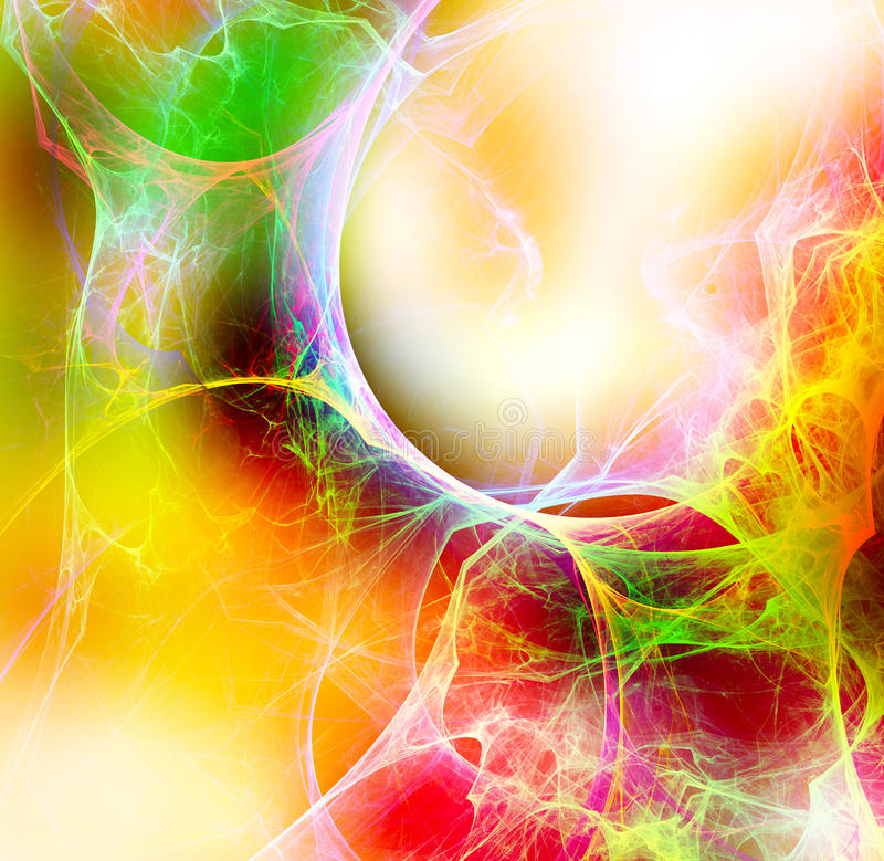 Warm curves abstract background stock illustration