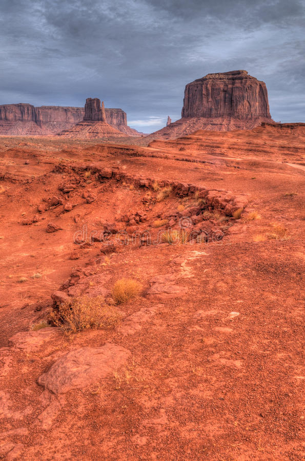 Warm Dawn Monument Valley Stock Photography
