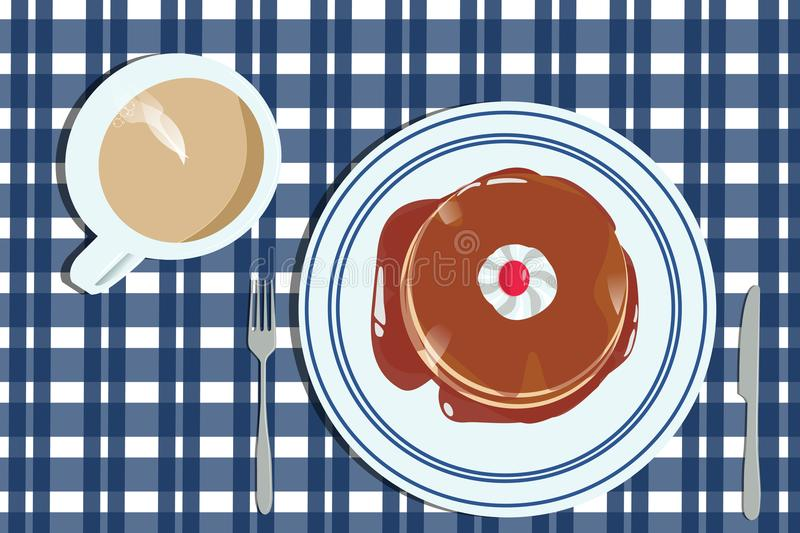 A warm and delicious breakfast royalty free stock image
