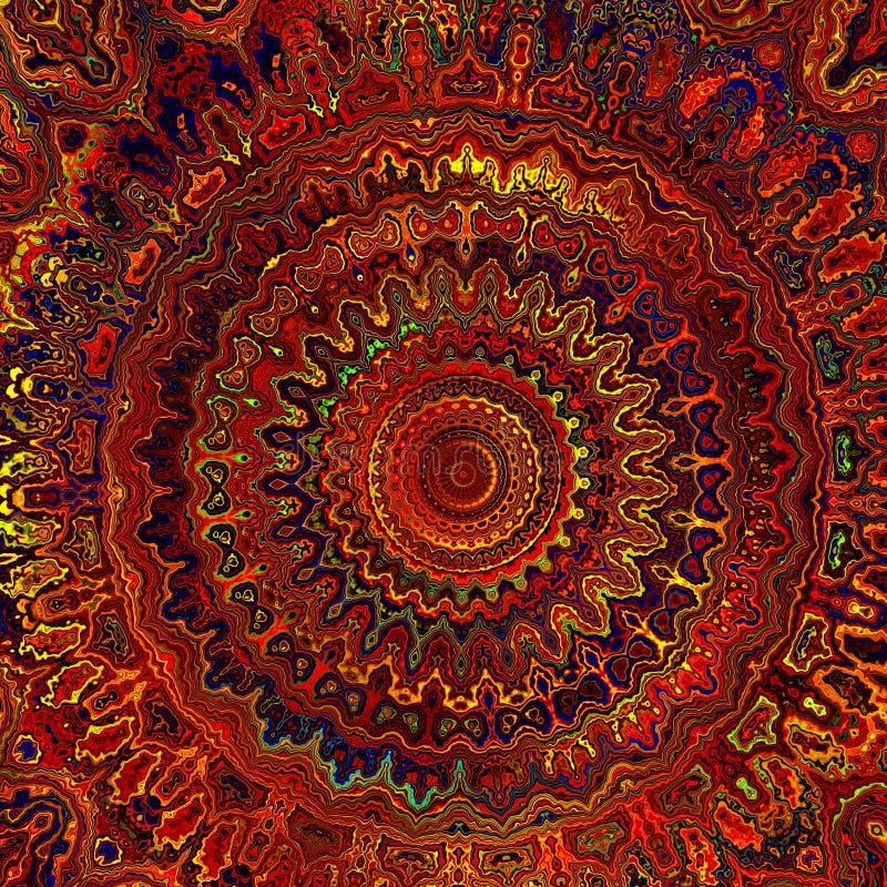 Warm Digital Mandala royalty free stock photography