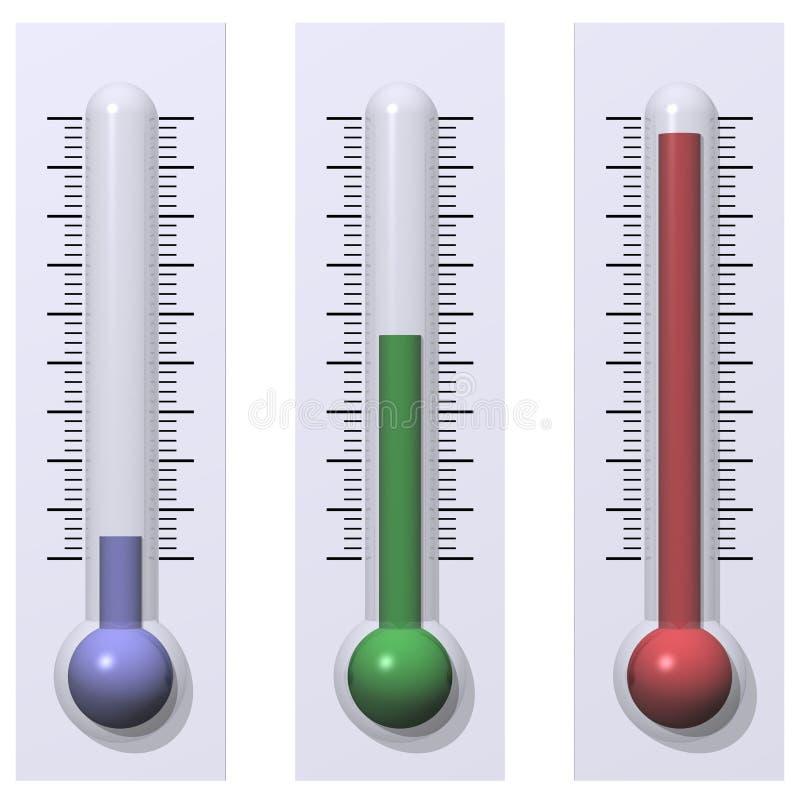 Warm, en Hete koude, vector illustratie