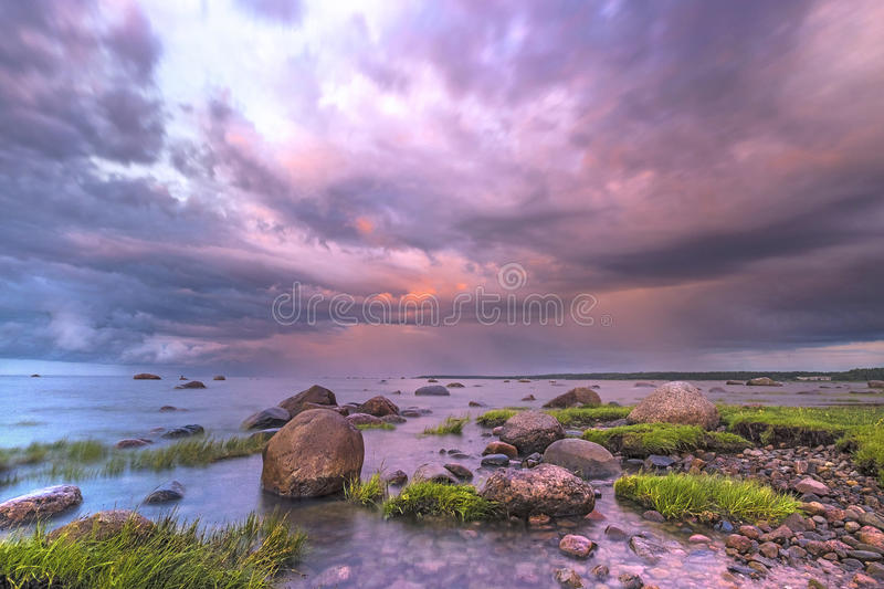 Warm evening royalty free stock photography