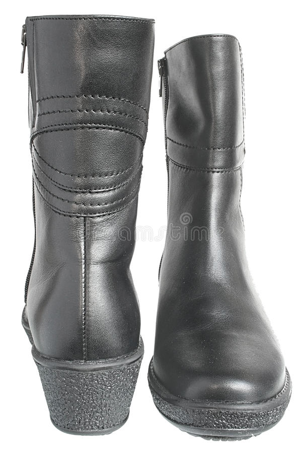 Warm Female Boots. Royalty Free Stock Photo