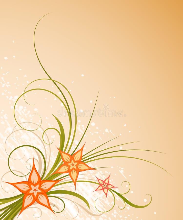 Warm floral design vector illustration