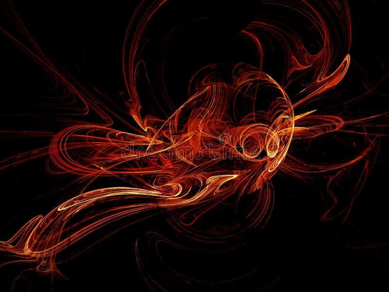 Download Warm fractals stock illustration. Image of orange, background - 3892201