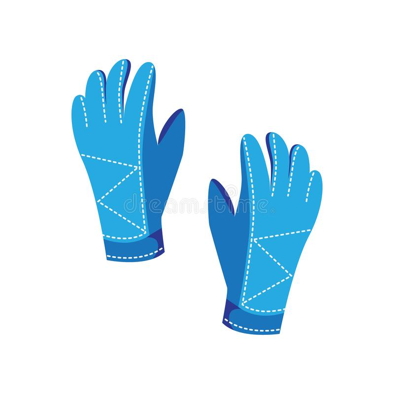 Warm gloves are a winter accessory for extreme ski sports stock illustration