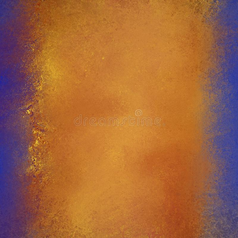 Free Warm Gold Red And Orange Colors In Abstract Background With Bright Blue Borders And Flecked Grunge Texture Stock Images - 107786154