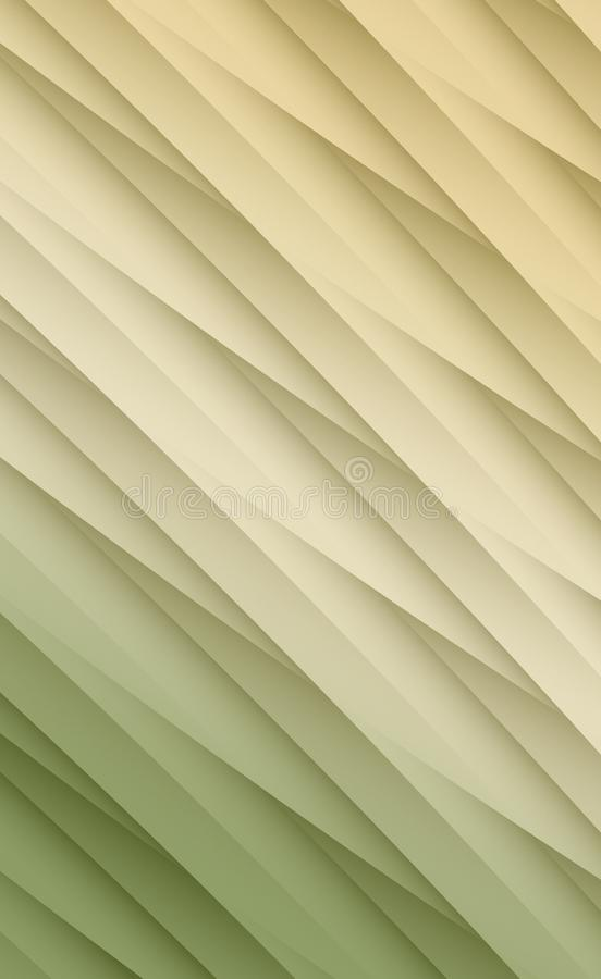 Warm green ivory tan layers of overlapping diagonal lines abstract linear fractal background illustration vector illustration