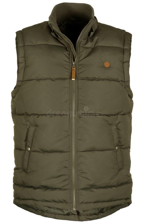 Warm green waistcoat royalty free stock images