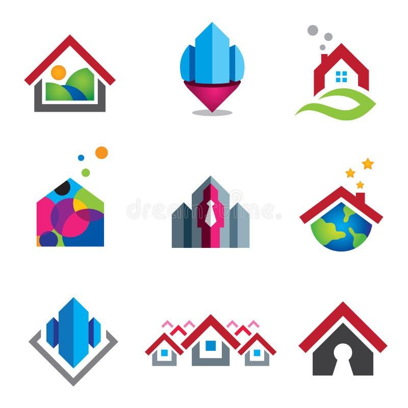 Warm huis in kleine sociale globale gemeenschap royalty-vrije illustratie