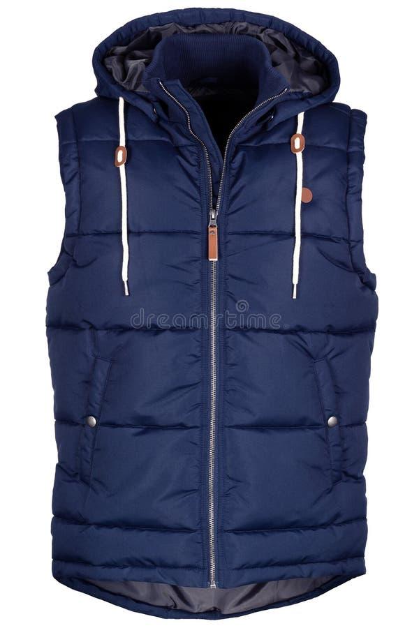 Warm marineblauw vest royalty-vrije stock foto