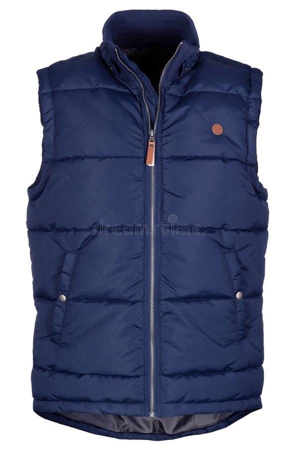 Warm marineblauw vest royalty-vrije stock afbeelding