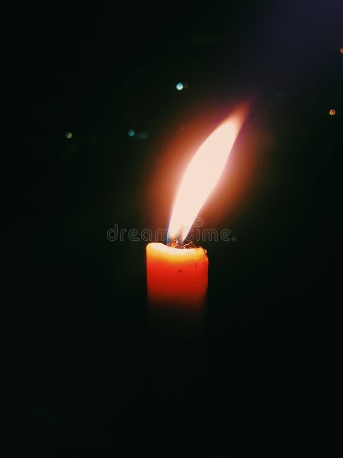 Warm oranje Kaarslicht royalty-vrije stock afbeelding