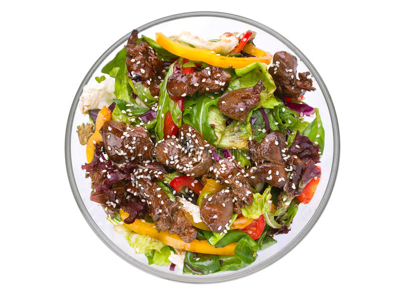 Download Warm Salad With Chicken Liver Stock Photo - Image: 20564328