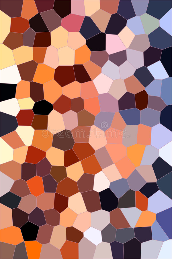 Warm stained glass background stock photo
