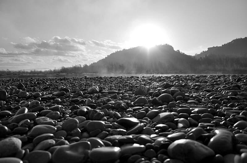 Warm stones stock photography