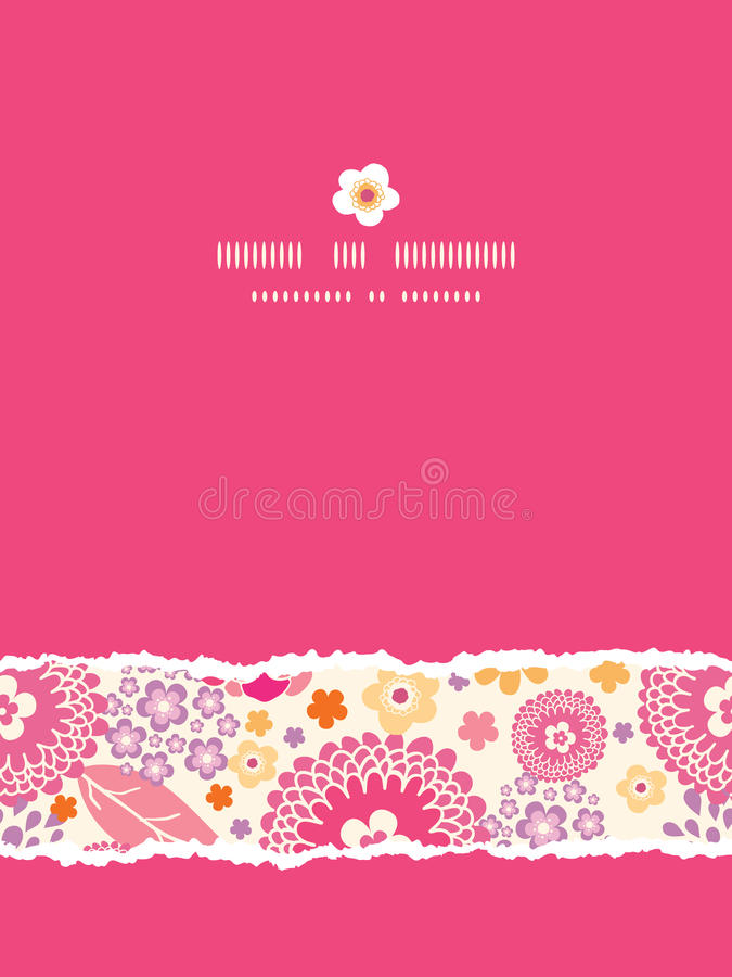 Download Warm Summer Plants Frame Vertical Torn Seamless Stock Vector - Image: 32446493